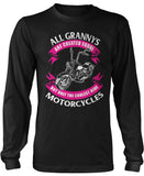 Only The Coolest Grannys Ride Motorcycles Long Sleeve T-Shirt