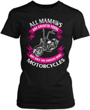 Only The Coolest Mamaws Ride Motorcycles Women's Fit T-Shirt