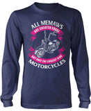 Only The Coolest Memaw Ride Motorcycles Longsleeve T-Shirt