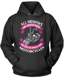 Only The Coolest Memaw Ride Motorcycles Pullover Hoodie Sweatshirt