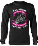 Only The Coolest Mimis Ride Motorcycles Longsleeve T-Shirt