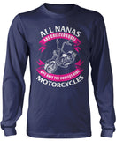 Only The Coolest Nanas Ride Motorcycles Longsleeve T-Shirt