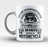 Never Underestimate a Grandpa with a Motorcycle - Mug