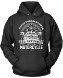 Never Underestimate a Paw Paw with a Motorcycle Pullover Hoodie Sweatshirt