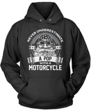Never Underestimate a Pop with a Motorcycle Pullover Hoodie Sweatshirt