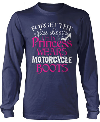 This Princess Wears Motorcycle Boots Longsleeve T-Shirt