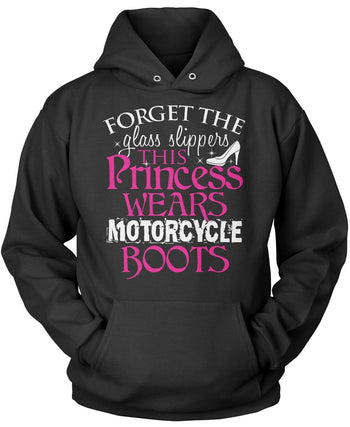This Princess Wears Motorcycle Boots Pullover Hoodie Sweatshirt