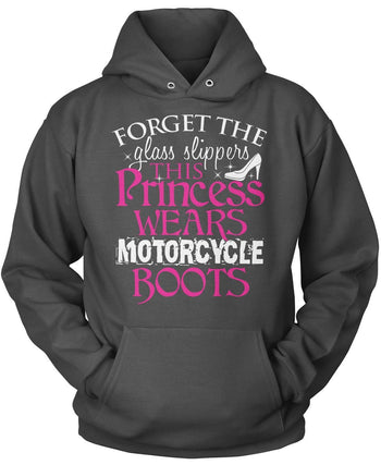 This Princess Wears Motorcycle Boots - Pullover Hoodie / Dark Heather / S