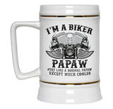 I'm a Cool Biker Papaw - Beer Stein