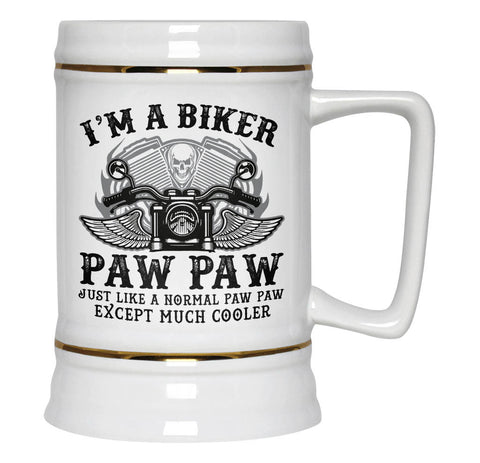 I'm a Cool Biker Paw Paw - Beer Stein