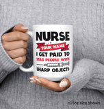 Nurse Paid to Stab - Personalized Mug - [variant_title]