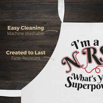 I'm a Nurse What's Your Superpower - Apron - [variant_title]