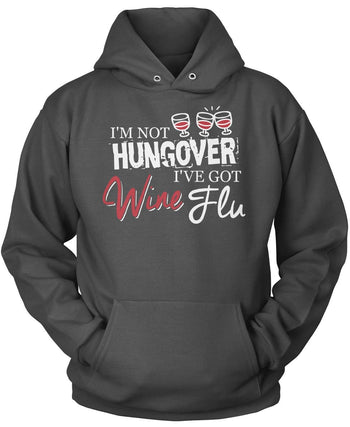 Wine Flu - Pullover Hoodie / Dark Heather / S