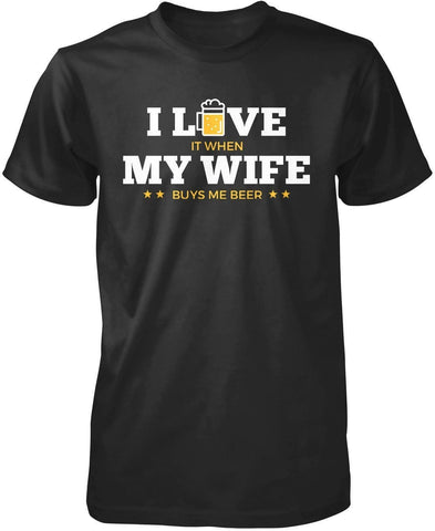 I Love My Wife & Beer - T-Shirts