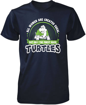 Only the Finest Women Raise Turtles - Premium T-Shirt / Navy / S