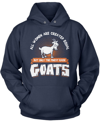 Only the Finest Women Raise Goats - Pullover Hoodie / Navy / S