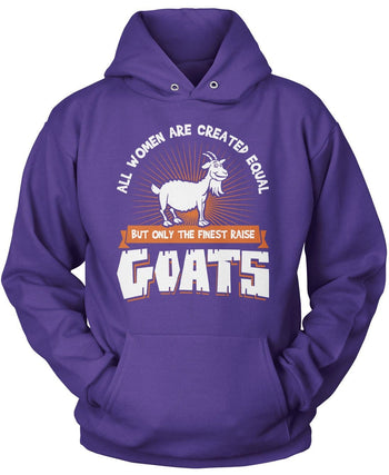 Only the Finest Women Raise Goats - Pullover Hoodie / Purple / S