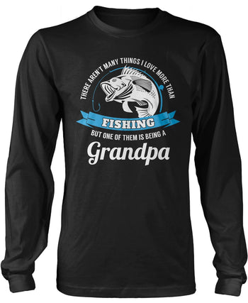 This (Nickname) Loves Fishing - Personalized T-Shirt - Long Sleeve T-Shirt / Black / S