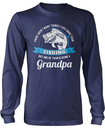 This (Nickname) Loves Fishing - Personalized T-Shirt - Long Sleeve T-Shirt / Navy / S