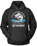 This Grandpa Loves Fishing Pullover Hoodie Sweatshirt
