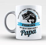 This Papa Loves Fishing - Mug