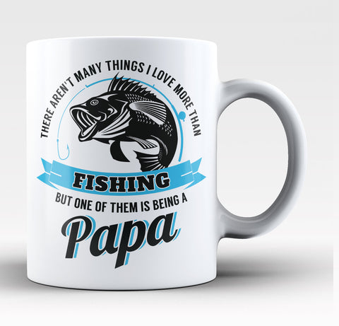 This Papa Loves Fishing - Coffee Mug / Tea Cup
