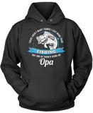 This Opa Loves Fishing Pullover Hoodie Sweatshirt