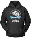 This Poppy Loves Fishing Pullover Hoodie Sweatshirt