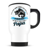 This Papa Loves Fishing - Travel Mug