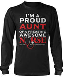 Proud Aunt of An Awesome Nurse Long Sleeve T-Shirt