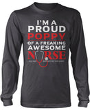 Proud Poppy of An Awesome Nurse