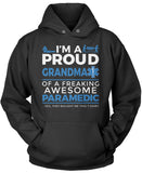 Proud Grandma of An Awesome Paramedic - Pullover Hoodie Sweatshirt