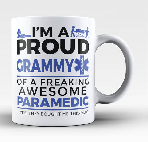 Proud Grammy of An Awesome Paramedic - Coffee Mug / Tea Cup