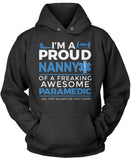 Proud Nanny of An Awesome Paramedic - Pullover Hoodie Sweatshirt