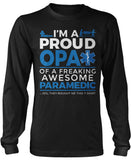 Proud Opa of An Awesome Paramedic - Long Sleeve T-Shirt