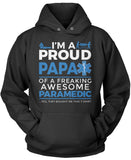 Proud Papa of An Awesome Paramedic - Pullover Hoodie Sweatshirt