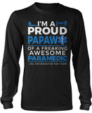 Proud Papaw of An Awesome Paramedic - Long Sleeve T-Shirt