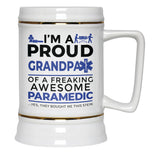 Proud Grandpa of An Awesome Paramedic - Beer Stein