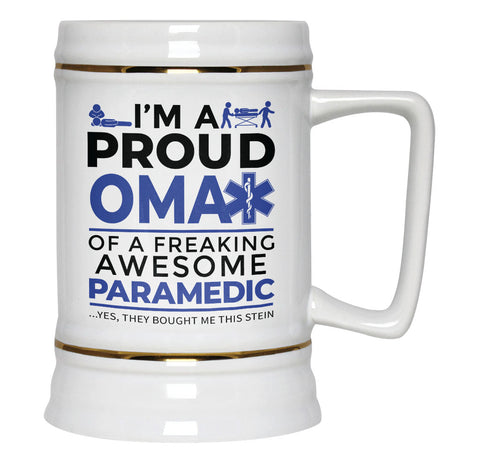 Proud Oma of An Awesome Paramedic - Beer Stein