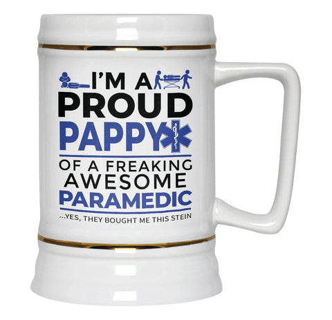 Proud Pappy of An Awesome Paramedic - Beer Stein