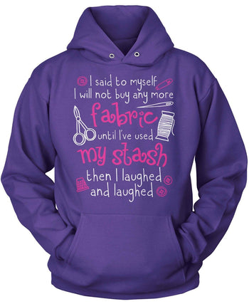 I Will Not Buy Anymore Fabric - Pullover Hoodie / Purple / S