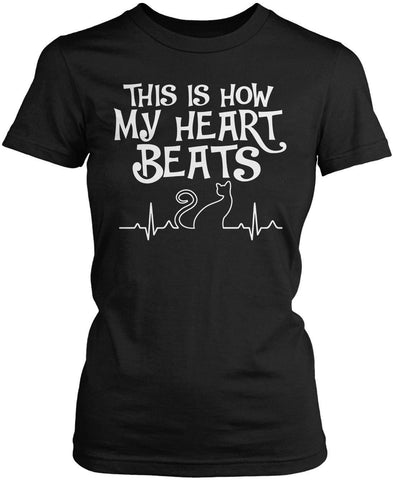 Cat Heartbeat - T-Shirts