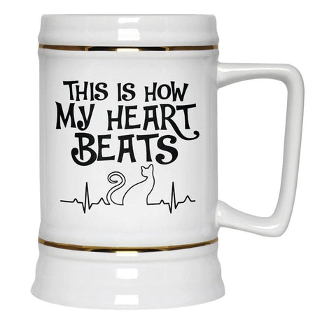 Cat Heartbeat - Beer Stein - Beer Steins