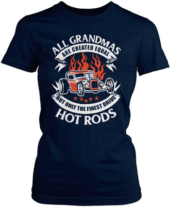 Only the Finest (Nickname)s Drive Hot Rods - T-Shirt - Women's Fit T-Shirt / Navy / S