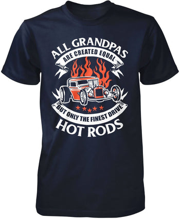 Only the Finest (Nickname)s Drive Hot Rods - T-Shirt - Premium T-Shirt / Navy / S