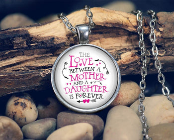 The Love Between a Mother and Daughter - Pendant Necklace - [variant_title]