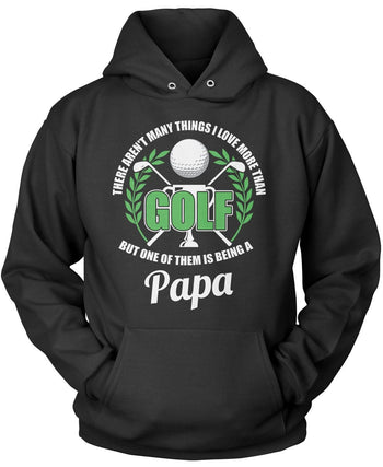 This (Nickname) Loves Golf - Personalized T-Shirt - Pullover Hoodie / Black / S