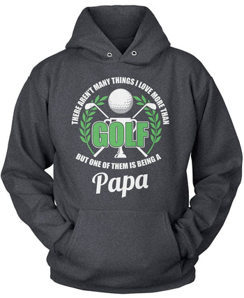 This (Nickname) Loves Golf - Personalized T-Shirt - Pullover Hoodie / Dark Heather / S
