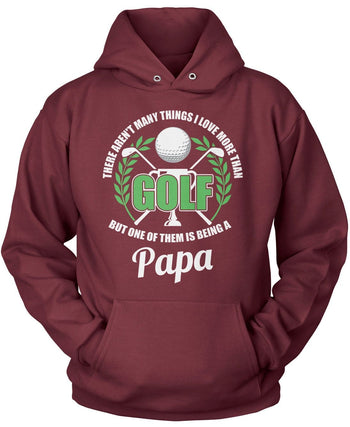 This (Nickname) Loves Golf - Personalized T-Shirt - Pullover Hoodie / Maroon / S