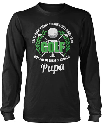 This (Nickname) Loves Golf - Personalized T-Shirt - Long Sleeve T-Shirt / Black / S